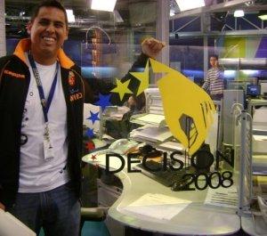 Listo para trabajar en uno de mis primeros operativos: Decisión 2008.