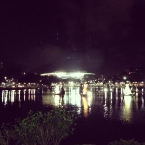 Vista más lejana del Arena Fonte Nova