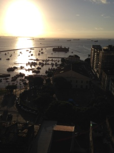 Hermosa imagen de la parte baja de la ciudad