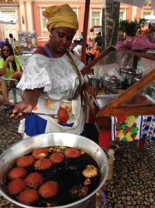 Comida de calle en Pelourinho