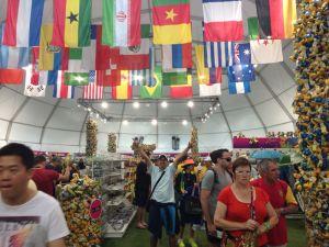 El Fan Shop de la FIFA, en Copacabana